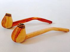 Pair of Wooden Handmade Smoking Pipes by FriendsOfForest on Etsy