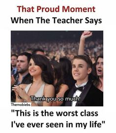 Our class is worst . Justin Beiber Memes, Justin Bieber Facts, Funny School Memes, Funny Jokes, Hilarious, Girly Facts, Weird Facts, Every Teenagers, Laughter Therapy
