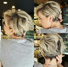 100 Mind-Blowing Short Hairstyles for Fine Hair Blonde Pixie Bob With Dark Roots Blonde Balayage Bob, Blonde Bobs, Blonde Highlights, Blonde Ombre, Ombre Hair, Thin Hair Cuts, Haircuts For Fine Hair, Blonde Haircuts, Sassy Haircuts