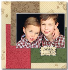 """Sweet And Simple Christmas """"Holiday Cheer"""" Scrapbooking Page...Jennifer McGuire: Hero Arts Scrapbooking."""