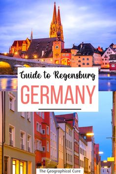 "Planning a trip to Germany? Regensburg is one of Germany's prettiest towns. Regensburg is tucked away in Bavaria. This Regensburg guide takes you to the city's must see sites, historic landmarks, and must visit destinations. Regensburg is nicknamed the ""northernmost Italy."" It's filled with pointy towers and cute beer gardens. It's a 1,000 years older than Munich. Regensburg's crowning glory is its 13th century Gothic cathedral. Bavaria Itineraries 