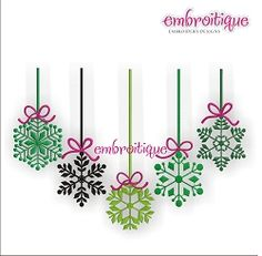 Winter Snowflake Ornaments - 3 Sizes! | Christmas | Machine Embroidery Designs | SWAKembroidery.com Embroitique