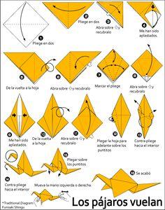 Origami Los pájaros vuelan