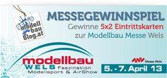 Gewinne 5x2 Eintrittskarten zur Modellbaumesse Wels vom 5. - 7. April 2013