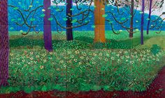 David Hockney, 'The Arrival Of Spring', 2011. 144 x 384 inches. Oil on canvas. Courtesy of the artist/© David Hockney/Photo Jonathan Wilkinson.