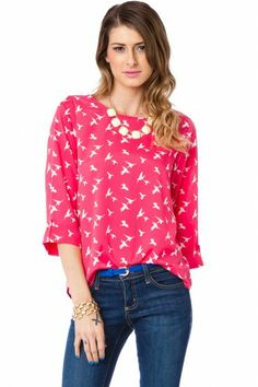 Sparrow Blouse in Magenta