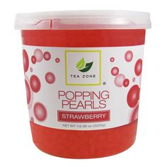 Boba Traders - Strawberry Popping Pearls (7 lbs), $16.50 (http://bobatraders.com/strawberry-popping-pearls-7-lbs/)