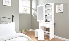 Groupon Goods Global GmbH: Brooklyn Collection of Dressing Table Sets in Choice of Colour and Design with Free Delivery