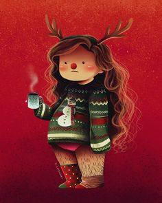 "c-cassandra: "" feeling the Holiday spirit { available in my shop } "" spreading christmas joy :)"