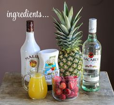 Lava Flow, Pina Colada, Miami Vice Cocktail Ingredients