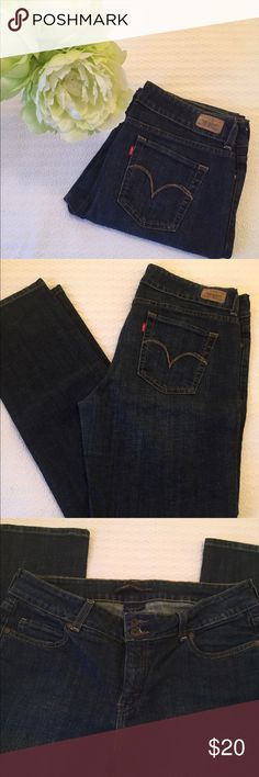 Levis #526 Slender Straight Jeans! Great shape! This awesome pair of Levi jeans has only been worn a couple of times and they are in great condition. Slender straight cut and double button is flattering and perfect for day with sneakers or evening with heels! You don't want to miss this great buy! Levi's Jeans Straight Leg