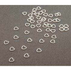 Herz Konfetti Perlenherzen Tischdeko Liebe Hochzeitsdeko - weiß in Dekoration  • Konfetti