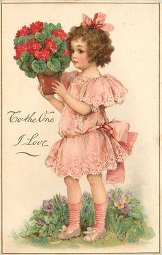 Винтажные открытки к Дню вятого Валентина часть первая