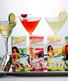 Skinny Girls Go Cocktails! Signature Margarita: Calories) 1 packet Go Cocktails! Sugar-free Margarita Mix 2 ounces Jose Cuervo Gold Tequila ounces Water Squeeze of lime Mix ingredients and serve over ice. Sugar Free Margarita Mix, Margarita Recipes, Shape Magazine, Clean Drink, Low Calorie Cocktails, Drinks Alcohol Recipes, Drink Recipes, Alcoholic Drinks, Margaritas