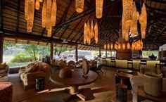 The Bushcamp Company provides traditional African Safaris from 6 unique bush camps and the award winning Mfuwe Lodge in South Luangwa National Park. Great Places, Places Ive Been, Lodges, Game Lodge, Basement House, Bar Interior, Beach Bars, African Safari, Perfect Place