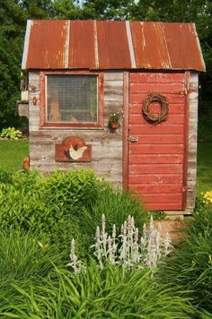 Love this rusty-red roof <3 Schoolhouse Country Gardens