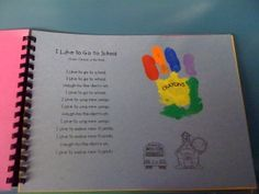Handprint Art Book 1 - a handprint for each holiday throughout the school year Classroom Fun, Preschool Classroom, Preschool Activities, Preschool Journals, Teach Preschool, Preschool Curriculum, Future Classroom, Classroom Organization, Christmas Gifts For Parents