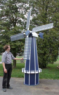 Amish yard windmill