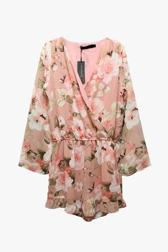 Genuine People Floral Long Sleeve Chiffon Romper - S Spring Summer Fashion, Spring Outfits, Floral Romper Long Sleeve, Playsuit Romper, Couture Fashion, Passion For Fashion, Cute Outfits, Beautiful Outfits, Chiffon