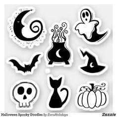 Feliz Halloween, Halloween Doodle, Halloween Party Themes, Halloween Stickers, Halloween 2020, Spooky Halloween, Halloween Treats, Halloween Design, Halloween Vector