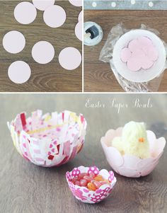 Easy Easter Craft: Create these simple paper bowls for Easter