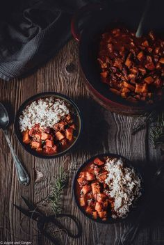 Ayurvedic sweet potato and pumpkin chilli - Sweet Potatoes Pumpkin Risotto 🌼 PS. Chili Recipes, Diet Recipes, Vegetarian Recipes, Slow Cooking, Pumpkin Chilli, Sweet Potato Chilli, Sweet Chili, Benefits Of Potatoes, Pumpkin Risotto