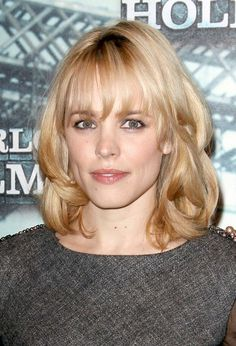 Rachel McAdams Medium Wavy Cut with Bangs- This is the hair I've wanted to have my whole life.