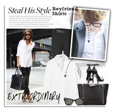 """""""Steal His Style: Boyfriend Shirts"""" by junglover ❤ liked on Polyvore featuring moda, Yves Saint Laurent, rag & bone, Frame Denim, Karl Lagerfeld, Ray-Ban, BoyfriendShirt, polyvorecontest, polyvoreditorial y Spring2015"""