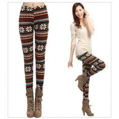 Legging azteque colore aztec tribal leggings skinny colorful printed Plus Winter Leggings, Warm Leggings, Christmas Leggings, Black Leggings Outfit, Tribal Leggings, Legging Outfits, Trousers Women, Pants For Women, Japan Fashion