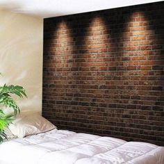 Wall Hanging Art Decor Light Brick Wall Print Tapestry – Brick-red Inch * Inch - Home Page Blanket On Wall, Light Brick, Faux Brick Walls, Gallery Wall Hanging, Wall Prints, Brick Wall, Cool Walls, Printed Tapestries, Tapestry Wall Art