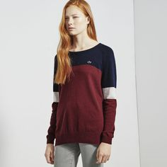Lacoste LIVE sweater in tricolor jersey