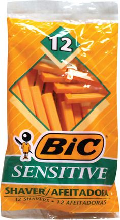 12 Pack of Bic Single Blade Razors - Sensitive skin single blades are best for people with acne and/or ingrown hairs. Not triple blades! Don't forget acne safe shave cream.