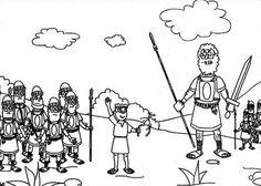 David and Goliath Free Coloring Page httpmakingartfuncom