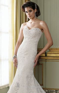 David Tutera, style #212242, fit and flare silhouette, sweetheart neckline, sizes 16, 18, and priced at $1,200.00!  (Store Style# W0532, W0533)