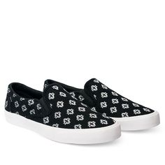 Bucketfeet The Republic Embroidered Felt Slip-On - Black