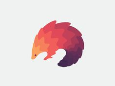 Pangolin by Maria Grønlund |  #Logo for animation studio in Saudi Arabia