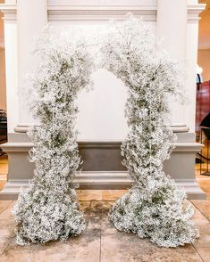 Babies breath garland either over the reception railing. I typically HATE babies breath but I love love love this to fill the space. Wedding Art, Floral Wedding, Wedding Events, Wedding Ceremony, Our Wedding, Dream Wedding, Fall Wedding, Weddings, Gypsophila Wedding