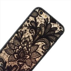 Black Lace Floral Phone Case