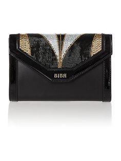 Biba Cleo Deco Beaded Clutch Handbag