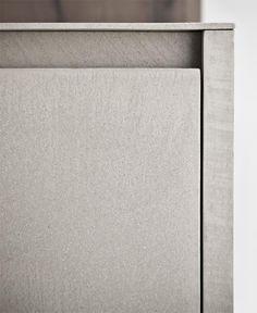 Zampieri - Line K #kitchen. A detail of cement resin finish.