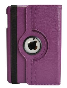 iPad Mini 4 Case Leather 360 Degrees Cover Function Automatically Wakes and Puts the iPad Mini To Slee-Purple