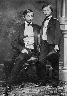 Their Royal Highnesses Prince Ludwig (1845-1886) and Prince Otto (1848-1916) of Bavaria
