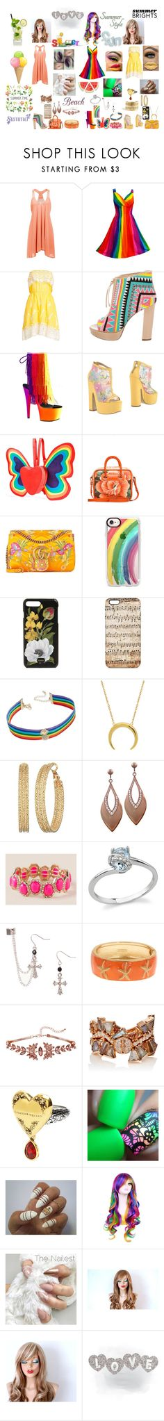 """Fashion #39"" by juli2902 on Polyvore featuring Christophe Sauvat, Jerome C. Rousseau, Pleaser, Alberto Moretti, Current Mood, Balenciaga, Gucci, Casetify, Dolce&Gabbana and INC International Concepts"