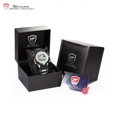 41.99$  Watch more here - http://aijj3.worlditems.win/all/product.php?id=1787762605 - Luxury Leather Package SHARK Sport Watches Relojes Esporte Calendar Dual Time Rubber Band Clock Digital LCD Timepiece /SH041-045