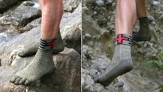 Forget your shoes? No problem when you got these Swiss Barefoot kevlar socks!