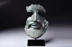 An extant fragment (face mask), ca. 350 BC of the Phrygian (Thracian) helmet widely associated with the #Macedonian army