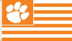 Clemson Tigers 3 Ft. X 5 Ft. Flag W/Grommets - SportsManiaUSA.com