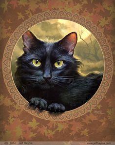 'Black Cat Ball by JeffHaynieArt'