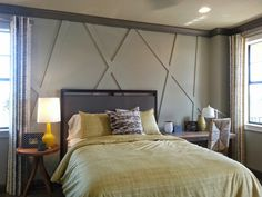 Use simple wood strips to create interest on your walls.