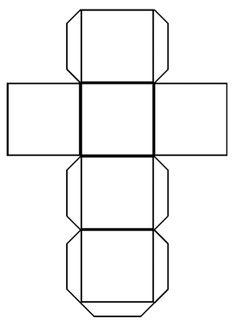 cube outline free printable teaching free printables pinterest rh pinterest co uk Cube Template Printable Full Page Cube Templates to Print